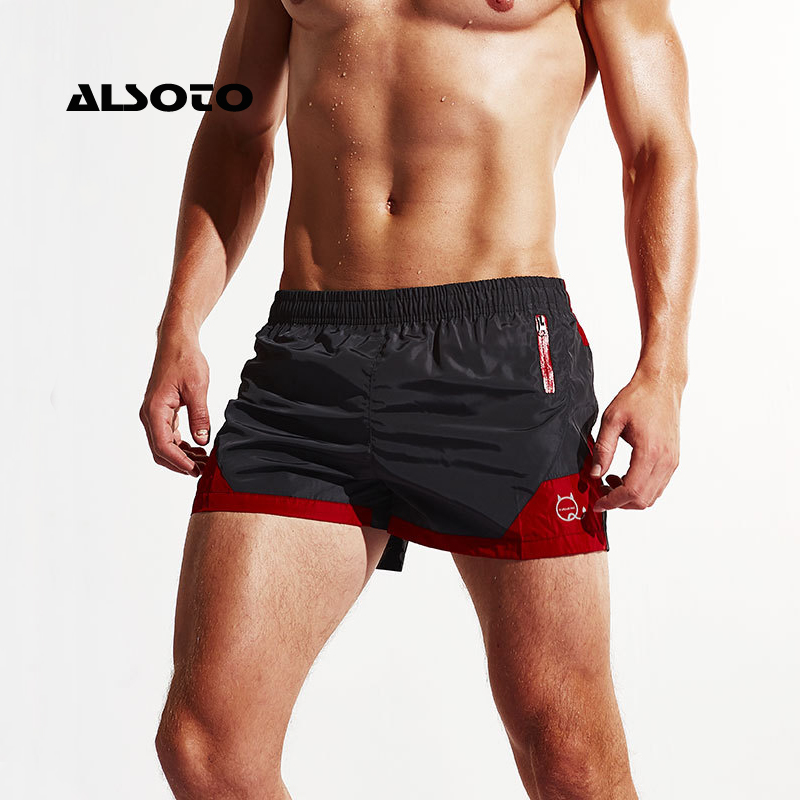 ALSOTO Sexy   Board     Shorts   Men Summer Sport   Shorts   Sport Running Loose   Short   Trouser Men's Beach Pants Beach Water   Shorts