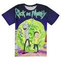 2017 Новые случайные тонкие Рик и Морти Crewneck толстовка 3d печати женщины/мужчины мультфильм мальчики девушки мужчины пуловеры летом Teest футболка