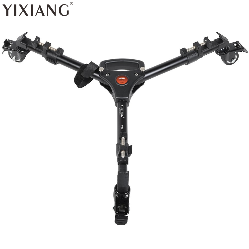 YIXIANG YT900 Pro 3 Wheels Pulley Universal Folding Camera Tripod Dolly Base Stand YT 900 With Carrying Bag hot sale yt 900 professional foldable tripod dolly for photo video yt 900lighting lockable 3 wheels yunteng 900