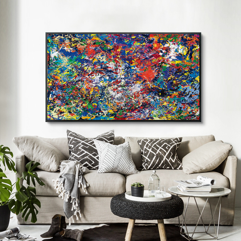07G Abstract Messy Paint A4 A3 A2 Canvas Art Painting
