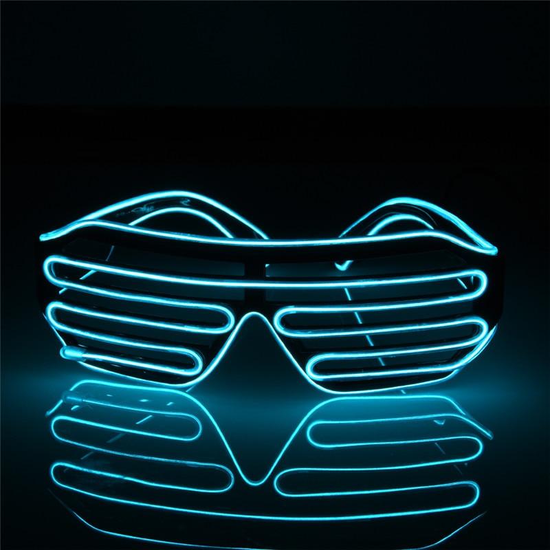 Мигающий EL Wire Led Очки Световой Партии Декоративного Освещения Классический Подарок Яркий Свет Фестиваль Подарок Glow Rave Костюм