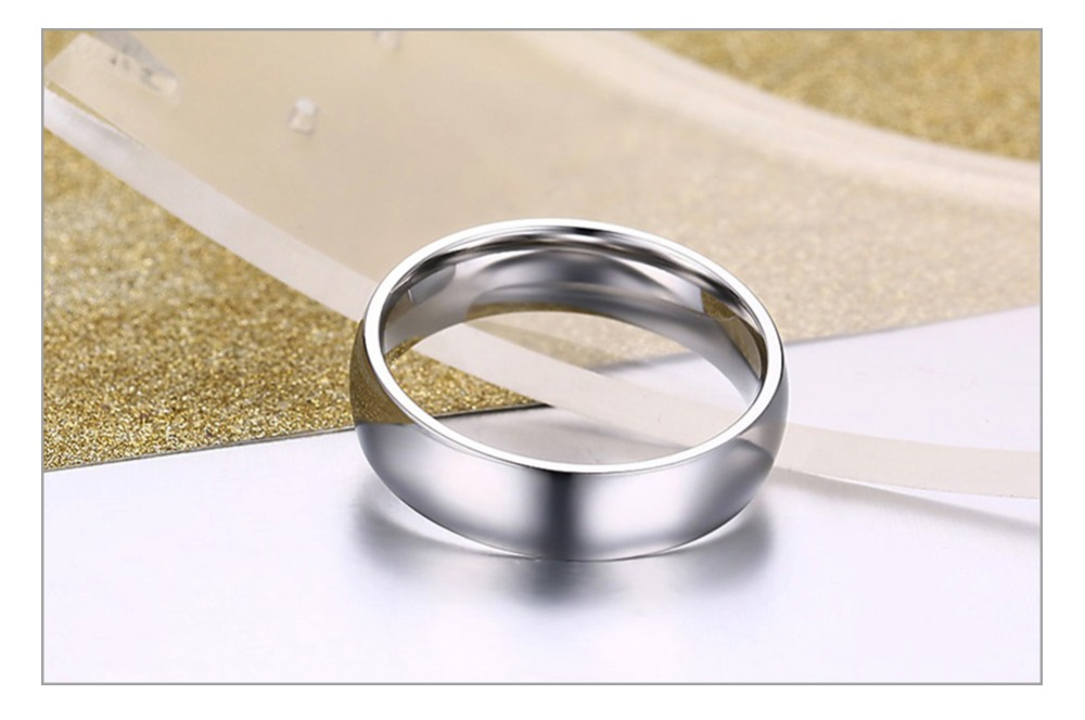 Vnox Basic Wedding Bands Rings for Women Man Customize Name Date Love Info Promise Alliance Anniversary Personalized Gift