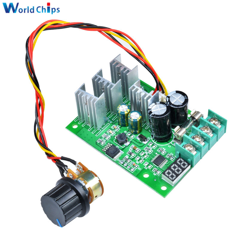 Display Dc6-60v Kind-Hearted 30a Pwm Motor Speed Controller Module Dimmer Current Regulator Electronic Components & Supplies