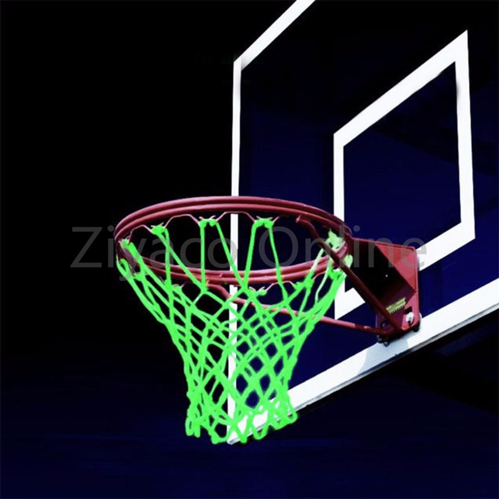 New Glowing Light Shooting Training Basketball Net Green Luminous Backboard Rim Ball Mes ...
