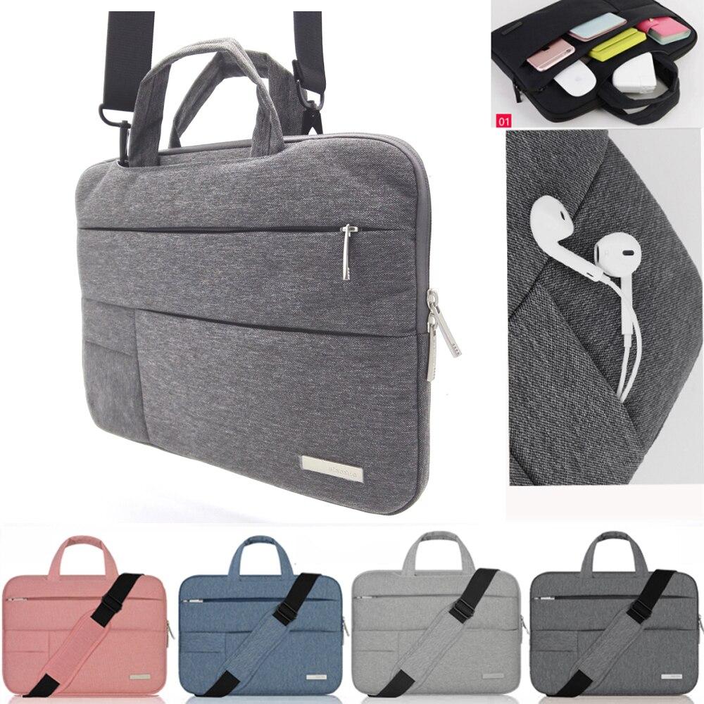 Nylon Laptop Sleeve Case Sac À Bandoulière Pour Macbook Air Pro Asus Dell HP Acer 11 12 13 14 15.4 15.6 surface pro Portable sac