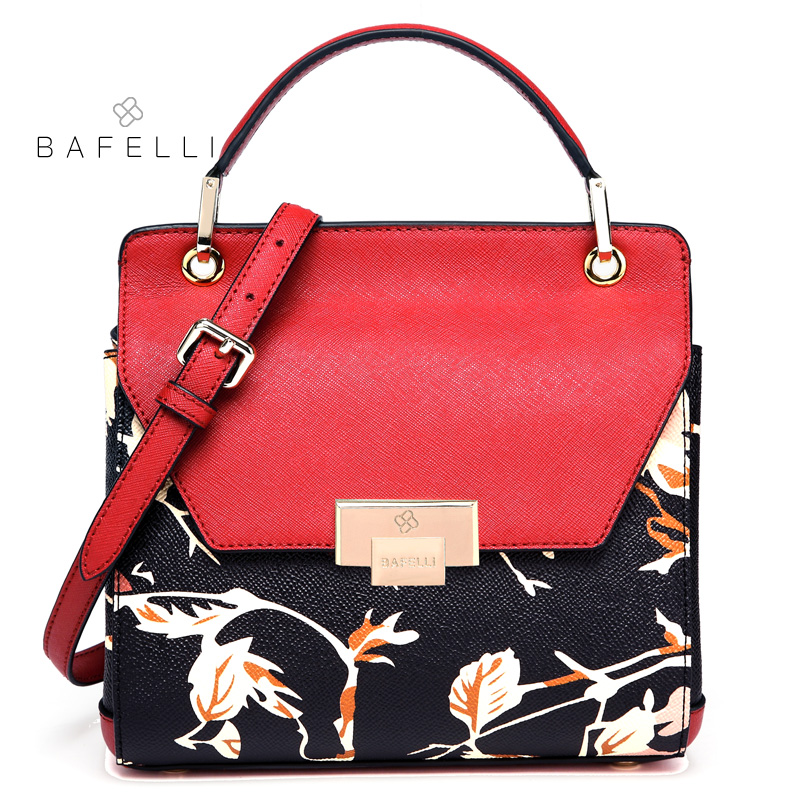 BAFELLI women handbag split leather flower printing trunk shoulder bag for women  crossbody bag bolsos mujer women bag 4 colors 99bdd8ffe907b