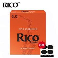 Rico derppde alto eb sax juncos força 2.5 #, 3.0 # laranja caixa de 10 rico alto saxofone juncos e-flat chave saxofone juncos