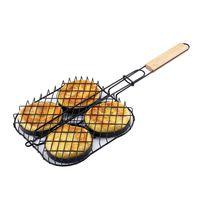 New Non Stick Small Hamburger Grill Basket Single Party Press Mini Burger Press Set Small Burger Basket Set BBQ Accessories