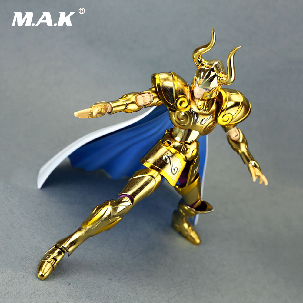 18cm Capricorn Shura Action Figure Saint Seiya Myth Cloth Gold Ex Children Gifts Toys Collections in stock s temple metal club ex taurus aldebaran saint seiya myth cloth gold action figure