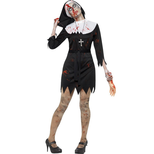Zombie Cosplay Blood Cook Costumes For Women Scary Halloween Costume Maid  Cosplay Costume Carnival Costume W5389242 e9c83605ad