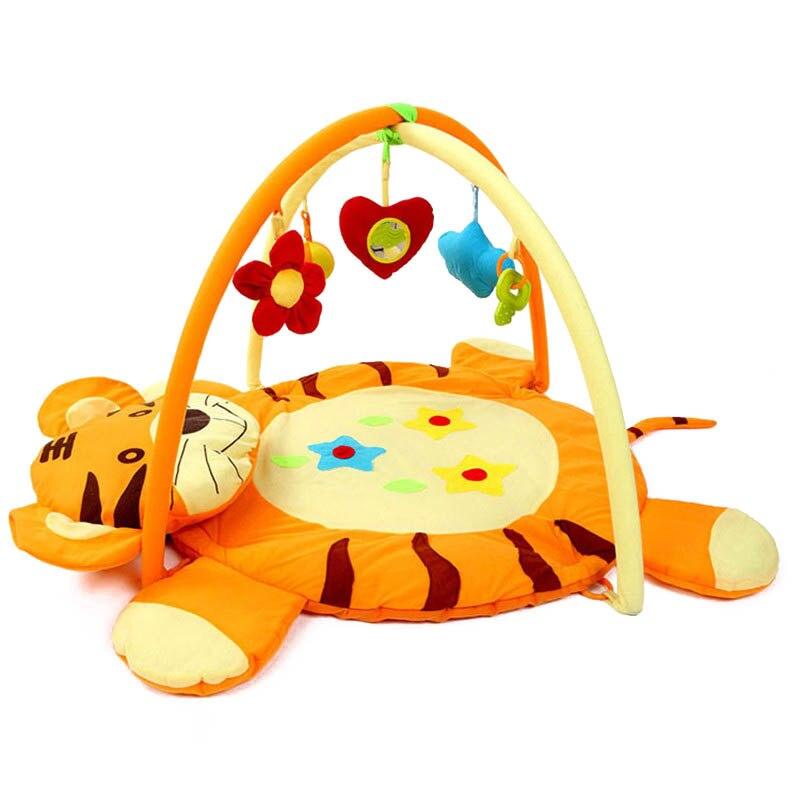 Cartoon Tiger Game Gym Blanket Educational Baby Toy Kids Play Mat Soft Crawling Mat Kids Creeping Mat Tapete Carpet Pad