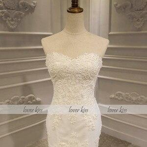 Image 5 - נשיקת מאהב Vestido דה Noiva בת ים שמלות כלה 2020 תחרה עד סטרפלס חרוזים כלה חתונת כותנות Robe De Mariage סירנה