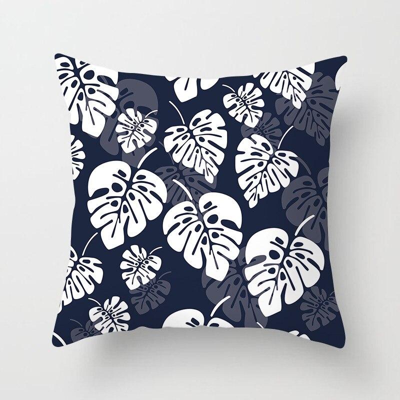 Fuwatacchi Mediterranean Blue Sea Cushion Cover Geometric Colorful Cotton Sailing Printed Pillows Cove Home Decor