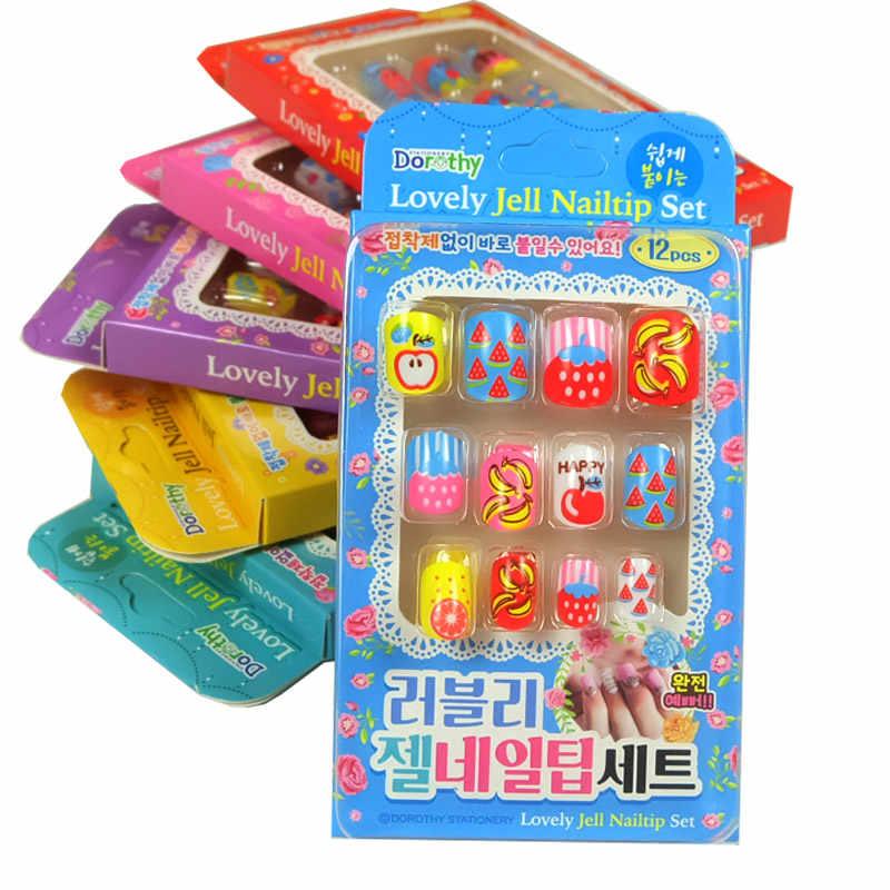 Новое поступление 12 шт./компл. наклейки для ногтей Grils красота и модные игрушки Дети макияж ролевые игры косметика для детей 6 стиль подарок для малышей
