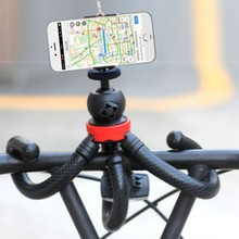 Flexible Octopus Mobile Tripod With Phone Holder Adapter for iPhone X Smartphone DSLR Camera Nikon Canon Gopro Hero(China)