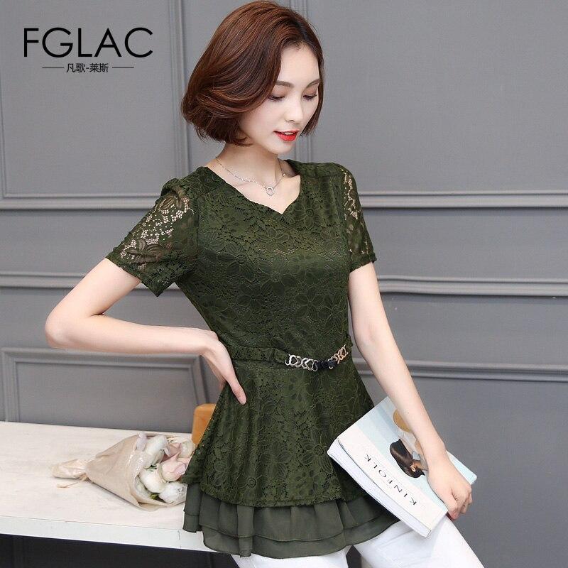 Fglac 4xl más el tamaño mujeres clothing new arrivals 2017 de verano de manga co