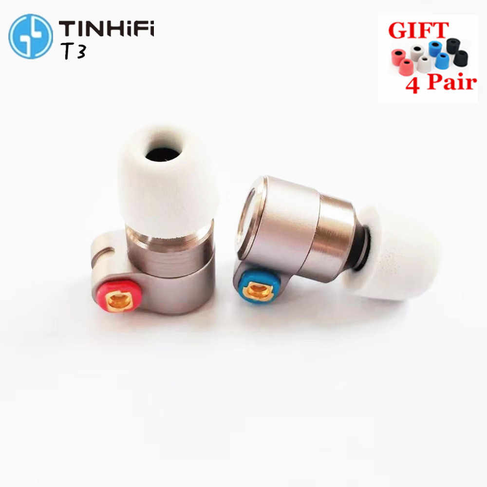 TIN T3 In Ear Earphone 1BA+1DD Knowles Drive HIFI Earphone Metal Earphone Earbud with Gold-plated OFC SPC Cable TIN T2 V80 P1 N3