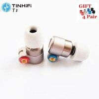 Олово T3 в ухо наушники 1BA + 1DD Ноулз привод HIFI наушники металлические наушники-вкладыши с позолоченным OFC SPC кабель Олово T2 V80 ZSN
