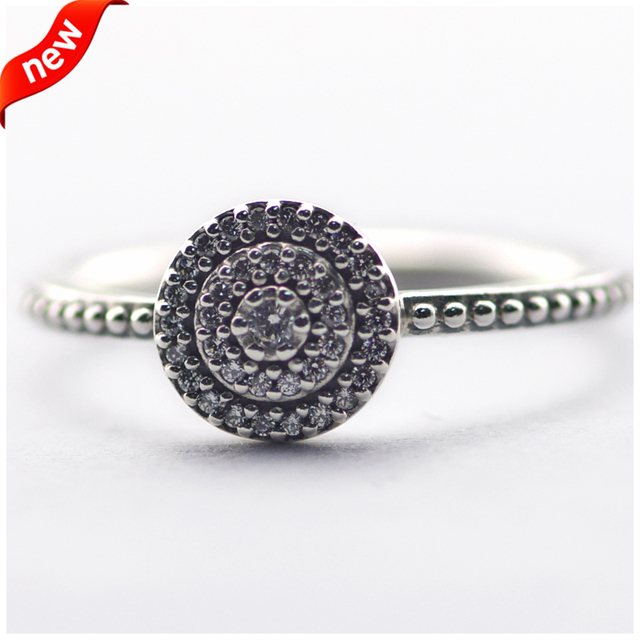 Serve Marca Europeia Radiante Elegância Anéis de Prata para As Mulheres com Limpar CZ 925 Prata Esterlina Jóias Da Moda FLR15082A