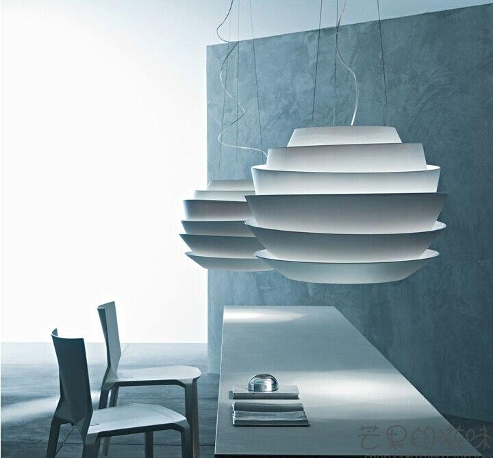 現代 D40cm ルソレイユウェーブペンダントライトホワイトローズサスペンションペンダントランプ寝室 Hanglamp E27 器具ヨーロッパ
