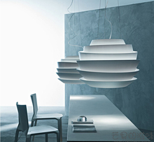 Modern D40cm Foscarini Le Soleil Wave Pendant Lights White Rose Suspension Pendant Lamp Bedroom Hanglamp E27 Fixtures European