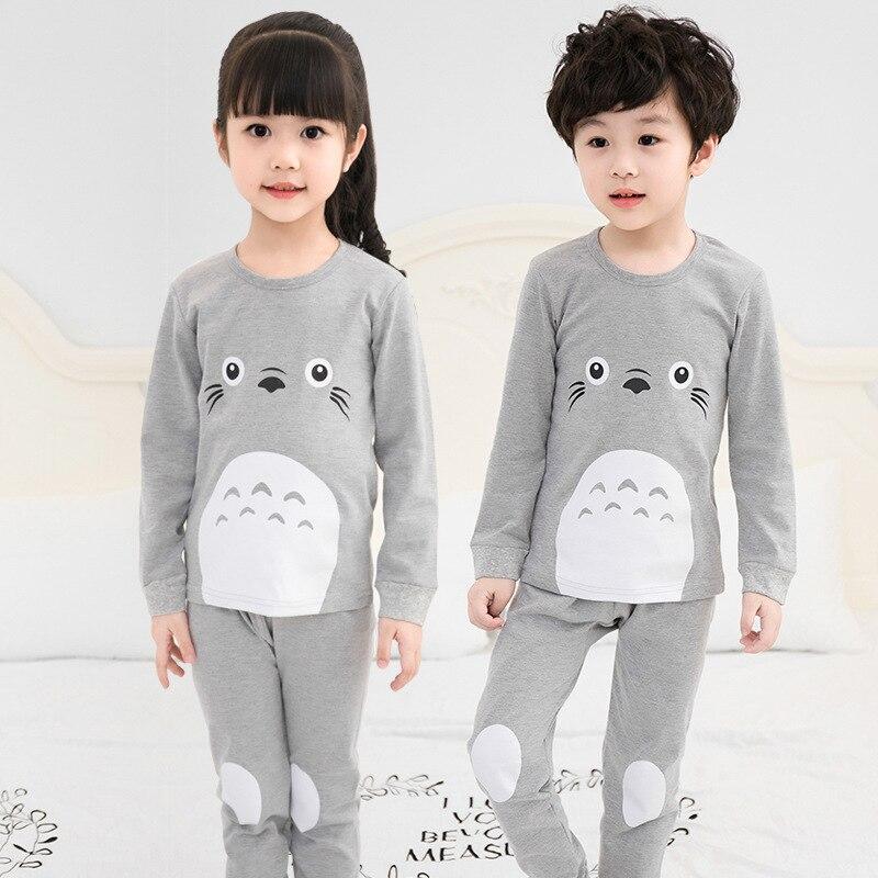 Spring Children Clothes Kids Clothing   Set   Boys   Pajamas     Sets   Totoro Styling Nightwear Print   Pajamas   Girls Sleepwear Baby Pyjama