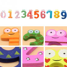 stickers Creative design Baby toys 10pcs Letters Kids Wooden Alphabet Fridge Magnet Child Educational home essentials l1224(China)