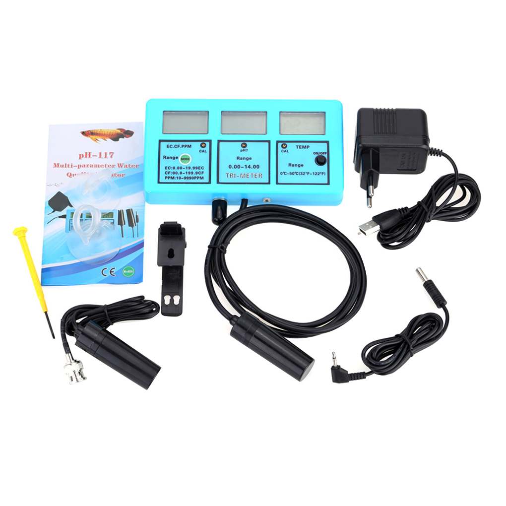 5 in 1 Multi-parameter Water Quality Tester Monitor LCD pH EC CF TDS Temperature Meter Acidometer Water Quality Analysis Device 5 in 1 multi parameter water quality monitor meter analysis device ph meter analyzer ph 0 00 14 00