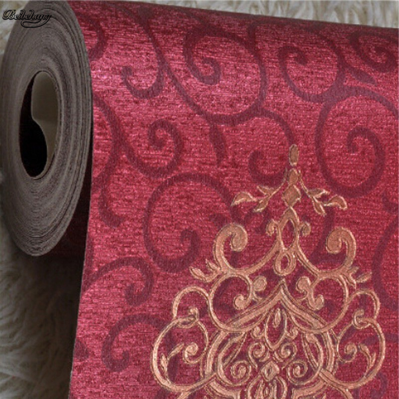 beibehang Papel de parede high quality European style wallpaper embossed pattern wallpaper home decoration 3D wall cover roll custom mural 3d sailing pattern wall covering moisture protection classic style papel de parede home decoration wallpaper roll