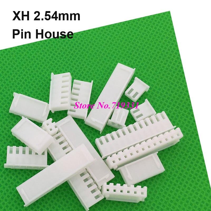 100pcs Micro Mini JST XH 2.54mm 2/3/4/5/6/7/8/12 pin Female House Connector