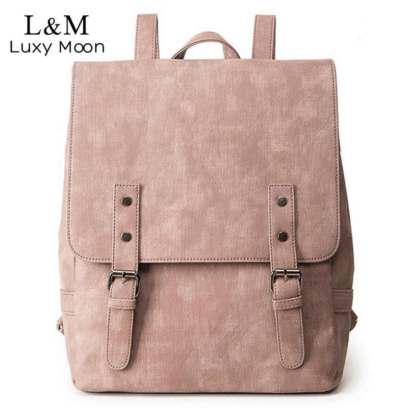 Detail Feedback Questions about Women Leather Backpack Female ...