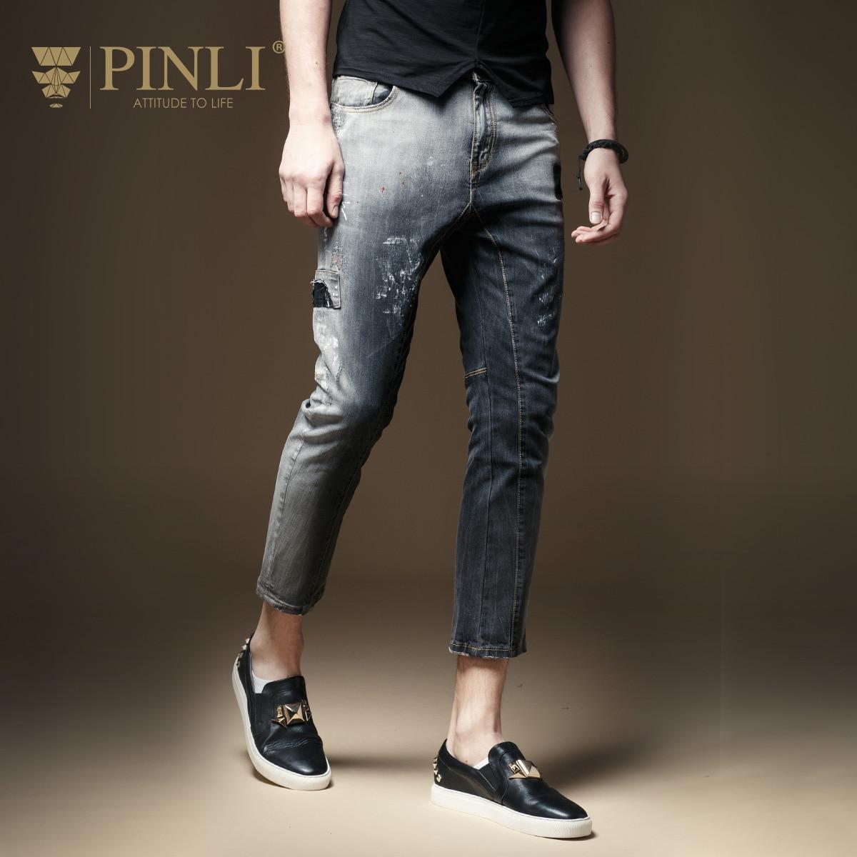 2019 Zipper Fly Light Mid New Top Knee Length Slim Pinli Pin Li Summer Men's Jeans Jeans, Body Wash, Old Nine Pants D182116521