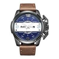 OULM Luxury Brand Watches Men Fabric Canvas Strap Quartz Watch Clock Male Three Time Zone Sports