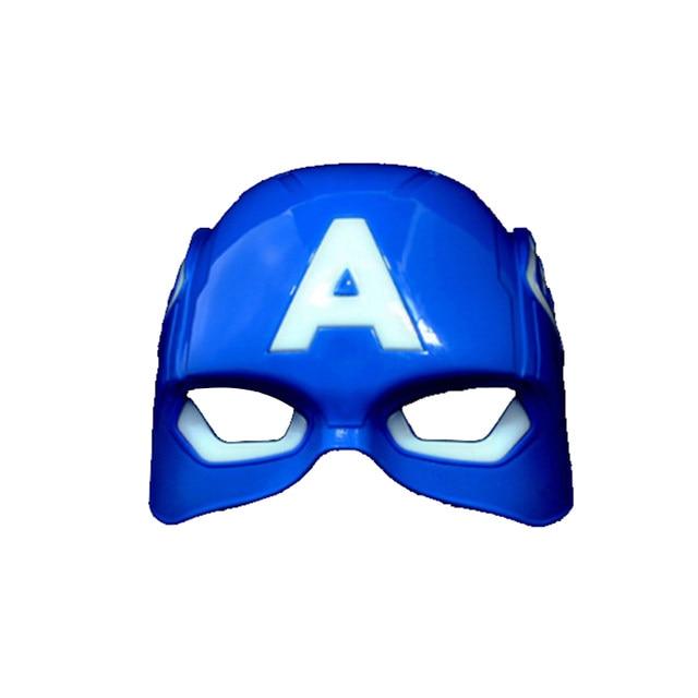 led glowing halloween superhero face mask avengers marvel captain america spiderman hulk iron man batman party facial eye masks - Masque Captain America