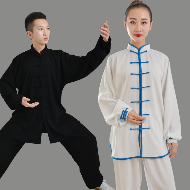 8e7b35cef Men Kung Fu Uniform Long Sleeve Women Tai Chi Uniforms Martial Arts Suit  Wushu Wing Chun Clothing Stage Exercise Outfit Clothes