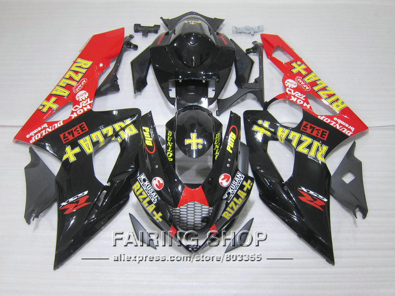 Motorcycle 100% fit for Suzuki injection mold GSXR1000 K5 K6 2005 2006 yellow sticker black red fairing kit GSXR 1000 05 06 IK25 new hot moto parts fairings for suzuki gsxr1000 00 01 02 black injection fairing kit gsxr 1000 2000 2001 2002 ju115