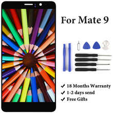 For Huawei Mate 9 MHA-L29 MHA-L09 LCD Touch Screen Panel With Frame 5.9'' Black White Gold Moca Gold Display Phone Spare Parts цена в Москве и Питере