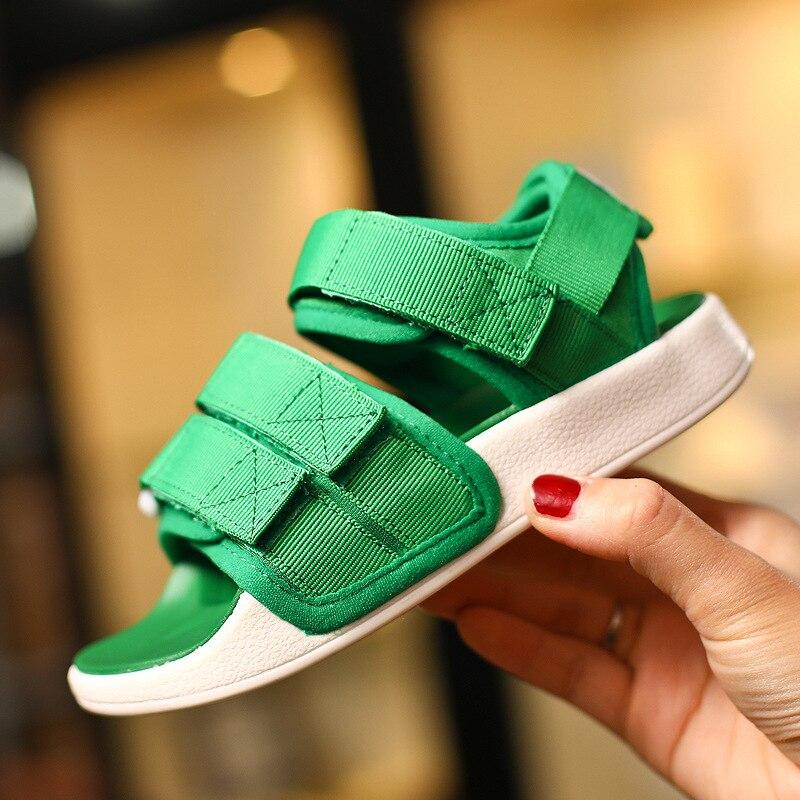 Summer New 2019 Kids Beach Sandals Baby Girls Casual Shoes Children Black Shoes Fashion Sandals Soft Brand Shoes Sport Sandals