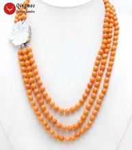 Женское Ожерелье чокер из натурального коралла 7 8 мм 18 20