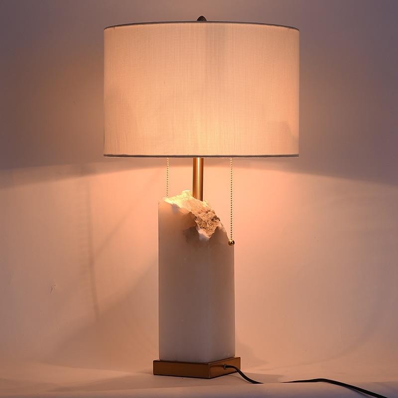 Туда 35X61 см Бесплатная доставка Мрамор настольные лампы американский кантри Стиль Настольная лампа для Гостиная Спальня прикроватной тумб...