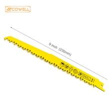 "Купить с кэшбэком Universal shank 9"" inch Bi-metal Reciprocating Saw Blades 18TPI for metal cutting,Saber Saw Blades Good Quality Jigsaw Blade"