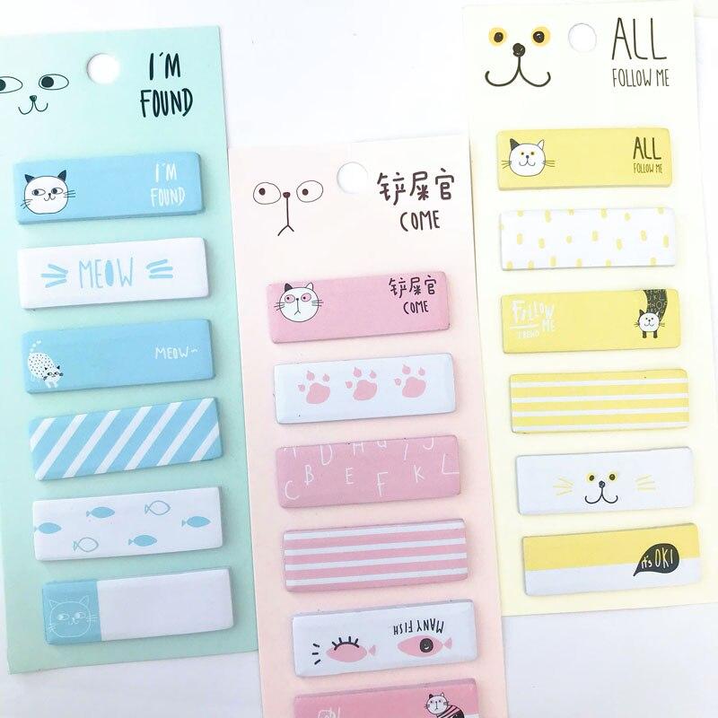 1 Paket Nette Kawaii Katze Meow Memo Pad Sticky Notes Notizblöcke Student Papier Schreibwaren Schule Bürobedarf Eine GroßE Auswahl An Waren