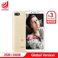 Global Version Xiaomi Redmi 6A 2GB 16GB 5.45 18:9 Full Screen MTK Helio A22 Quad Core 13MP Camera 3000mAh Cellphone