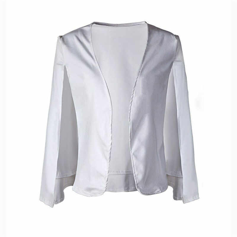 2019 chaqueta de moda para mujer, ajustada, de Color caramelo, Color negro, blanco, oferta ropa