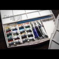 Freeshipping جديد المنتج الإفراج cotman وندسور نيوتن مائية الصباغ 16 لون الصلبة + السائل المائية الصباغ 3 لون
