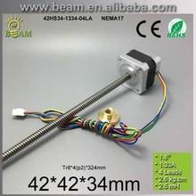 3D printer linear stepper motor 42mm NEMA17 screw rod stepper motor Tr8 pitch2mm lead screw linear stepper Free shipping
