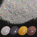 1 Caja de 7g Láser Holográfico Glitter Polvo de Oro de Plata Negro Café Brillante Manicura Nail Art Glitter Powder