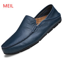 MEIL 2018 Handmade Mens Loafers Split Leather shoes Men Driving Shoes Breathable Casual Mens Moccasins Shoes zapatos hombre цена