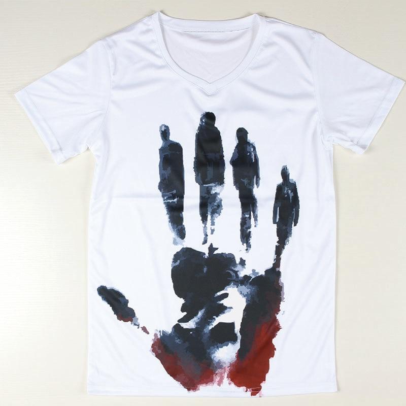Cool Design Celebrity Men T Shirts Short Sleeve V Neck Male Tee ...