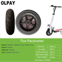 200x50 Scooter Tyre With Wheel Hub 200x50mm 8 Inflation Free Rubber Tyres Wheel For Scooter